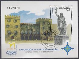 SPANIEN  Block 71, Gestempelt, Nationale Briefmarkenausstellung EXFILNA '97, Gijón, 1997 - Blocks & Kleinbögen