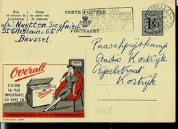 Publibel Obl. N° 1558 ( OVERALL - Machine à Laver - EREMBODEGEM) Obl. BXL 1959 - Publibels