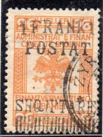 12CRT256 - ALBANIA 1919, Yvert 86 O Michel 58 I Usato. Annullo ZYRA - Albanië