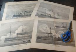 Lot Mixte : 10x Navires, 19ème Siècle/ Gemengd Lot: 10x Schepen, 19de Eeuw/ Mixed Lot: 10x Ships, 19th Century - Arte