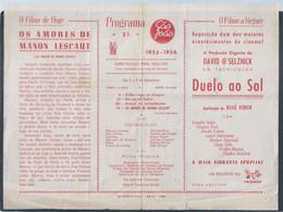 Cinema São João, Porto. Program 51 Of 1955/6. Belarte Advertising. Bioscoop São João, Porto. Kino. Pictiúrlann. Cine - Cinéma & Theatre