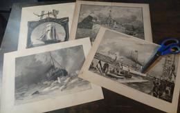 Lot Mixte : 12x Navires, 19ème Siècle/ Gemengd Lot: 12x Schepen, 19de Eeuw/ Mixed Lot: 12x Ships, 19th Century - Arte