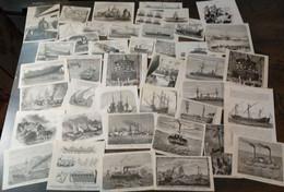 Lot Mixte : 80x Navires, 19ème Siècle/ Gemengd Lot: 80x Schepen, 19de Eeuw/ Mixed Lot: 80x Ships, 19th Century - Arte