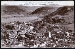 Ornans Vallée De La Loue Vue Générale Convoyeur Lods Hopital Du Grosbois 24 07 1923 Sur 5 C Vert GC Semeuse - Other Municipalities
