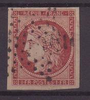 FRANCE :  N° 6 . NUANCE . OBL ETOILE . TB . SIGNE BRUN ET SCHELLER  . 1849 .  ( CATALOGUE YVERT ) . - 1849-1850 Cérès