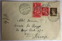 1936 - Italia Regno - Busta Viaggiata Da Morgnano Perugia Per Firenze - Interessante Chiudi Lettera -125 - Storia Postale