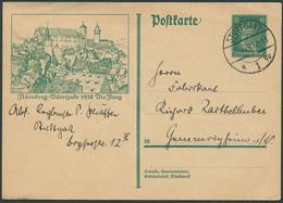 DR.REICH 1928, GS-P 178, BILD 18, ABB. NÜRNBERG, BURG, STPL STUTTGART, TOPP! - Cartas