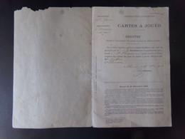 Registre Destiné à L'inscription Des Achats De Jeux De Cartes à Jouer, Du 28 Novembre 1908 à Bléneau - Non Classificati