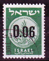 Israel 1960 Single Stamp From The Set Issued To Celebrate New Currency Values In Black  In Fine Used. - Gebraucht (ohne Tabs)