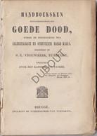BRUGGE Handboeksken Des Broederschaps Der Goede Dood Kanunnki Tanghe 1859 (N605) - Antique