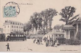 Cf - Rare Cpa LORIENT - La Place Du Morbihan (tramway Avec Pub Amer Picon) - Lorient