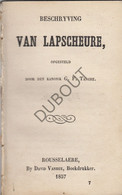 LAPSCHEURE/Damme Beschrijving - Kanunnik Tanghe Roeselare 1857 (N791) - Antique
