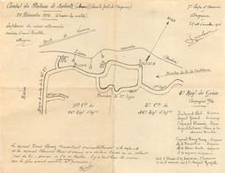 DOCUMENT ORIGINAL DU 4em REGIMENT DU GENIE COMBAT DU PLATEAU DE BOLANTE DU 20/12/1914 - 1914-18