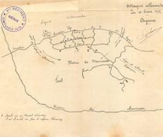 DOCUMENT ORIGINAL DU 4em REGIMENT DU GENIE ATTAQUE ALLEMANDE DU 16/02/1915 - 1914-18