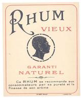 Etiquette Rhum Vieux Garanti Naturel - Rhum