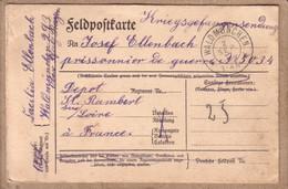 ALLEMAGNE , LOIRE - KRIEGSGEFANGENENSENDUNG - CARTE DE WALDMÜNCHEN POUR DEPÔT ST , SAINT RAMBERT SUR LOIRE - 1917 - Brieven En Documenten