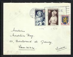 FRANCE 1956: LSC De Paris Pour Lausanne Affr. De 30F - Briefe U. Dokumente