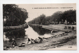 - CPA SAINT-NICOLAS-DE-REDON (44) - Le Canal Vers Redon (avec Lavandières) - Edition Chapeau N° 5 - - Autres Communes