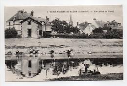 - CPA SAINT-NICOLAS-DE-REDON (44) - Vue Prise Du Canal (avec Lavandières) - Edition Chapeau N° 9 - - Autres Communes