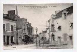 - CPA SAINT-NICOLAS-DE-REDON (44) - La Place Et Route De Châteaubriant - Edition Chapeau N° 16 - - Autres Communes
