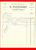 (Ref : F&T 202) Factures & Documents Commerciaux BRASSERIE DES CABANES N. PEYRUSSET AUX CABANNES Près De CORDES (Tarne) - 1800 – 1899