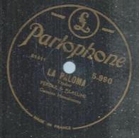 "123 ) 78 Tours 26cm  PARLOPHONE 5990  "" LA PALOMA "" + "" MARI, MARI "" FERERA & PAALUHI - 78 Rpm - Gramophone Records"