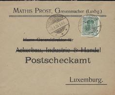 Luxembourg - Luxemburg - Lettre 1924   MATHIS PROST ,  GREVENMACHER - 1921-27 Charlotte Voorzijde