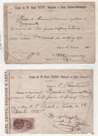 76 SEINE MARITIME - LOT DE 2 RECUS DE Me RENE TAYOT HUISSIER à CANY ( Barville ) - 1926 & 1929 - Bank & Insurance