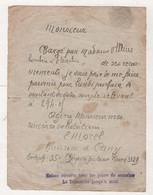 SEINE MARITIME - DEMANDE REGLEMENT Me E. MOREL HUISSIER CANY ( Barville ) POUR BOUCHERIE à SAINT MARTIN ( Aux Buneaux ) - Bank & Insurance