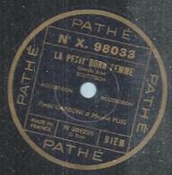 "132 ) 78 Tours 26cm  PATHE 98033  "" LA PETIT' BONN' FEMME "" + "" PERLES DE CRISTAL "" F. GARDONI - 78 Rpm - Gramophone Records"