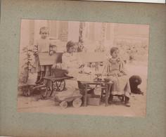 Photo Vers 1900  Enfants Jeu - Oud (voor 1900)