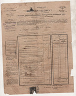 76 SEINE MARITIME - SAINT MARTIN AUX BUNEAUX / YVETOT / CANY - 1897 - AVERTISSEMENT CONTRIBUTIONS - Bank & Insurance