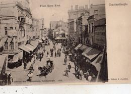 TURQUIE CONSTANTINOPLE PLACE KARA-KEUI   (CARTE PRECURSEUR  ) - Turquie