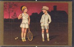 Colombo : Couple Jouant Au Tennis - Colombo, E.