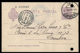 SPAIN STATIONARY POSTCARD 1928 (STB9-74) - Covers & Documents
