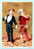 Chromo Gr.s Magasins Aux Amandiers. Calendrier 1888, Ier Semestre. L'habit Aujourd'hui Et Il Y A Un Siècle. Imp. Sicard - Small : ...-1900