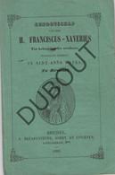 BRUSSEL Genootschap H. Fransiscus -Xaverius Sint-Anna Kapel 1856 (R225) - Antique