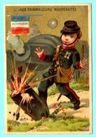 Chromo Gr.s Mag. Aux Travailleurs. Calendrier 1887, Ier Semestre. Artillerie De Forteresse 15 Bataillon. Imp. Bourgerie - Small : ...-1900