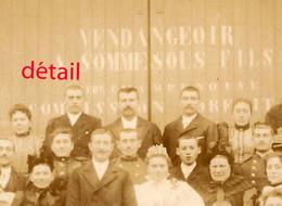 Vers 1892- VILLEVENARD (51)-Vendangeoir Sommesous Fils-mariage- Archives Paulin PERBAL  Instituteur à CONGY - Lieux
