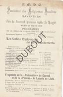 ZAVENTEM Pensionnat Des Religieuses Ursulines 19-03-1907 Toneel - Abbé De Maeght (R303) - Other