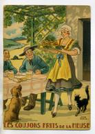 JEAN PARIS 043 -Nos PLats Régionaux -Les Goujons Frits De La MEUSE  - Chat Noir Chien    - BARRE DAYEZ 1946 -1417 P - Other Illustrators