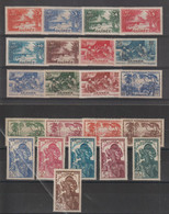 Guinée 1938 Série Courante 125-146 22 Val * Charnière MH - Unused Stamps