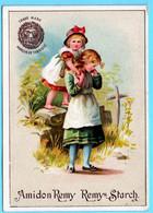 Belle Chromo Amidon Remy. Calendrier 1888, Année Complète. Les Deux Soeurs. - Small : ...-1900