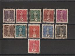 Guinée 1938-44 Série Taxe 26-35 Et 36 11 Val * Charnière MH - Nuovi