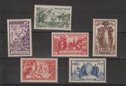 Mauritanie 1937 Expo Paris 66-71 6 Val * Charnière MH - Unused Stamps