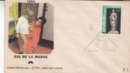 DIA DE LA MADRE, MOTHER'S DAY, FÊTE DES MÈRES. URUGUAY 1970 FDC ENVELOPPE- LILHU - Giorno Della Mamma