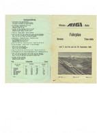 Vitznau - Rigi - Bahn - Fahrplan - Calendrier Horaire - 1956 - Train - - Europa