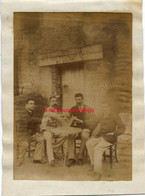 Vers 1892-on Trinque Devant Une Auberge- Archives Paulin PERBAL  Instituteur à CONGY (51) - Lieux
