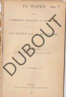 BRUGGE 1900 K.Beyaert Verkiezingen Te Wapen Godsdienst,Huisgezin Vaderland(R687) - Antique