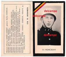 Oorlog Guerre Maurice Vande Vannet Brugge Politie Oostende Verzetsman Gesneuveld Te Gross Rosen < Duitsland 1945 Debrock - Images Religieuses